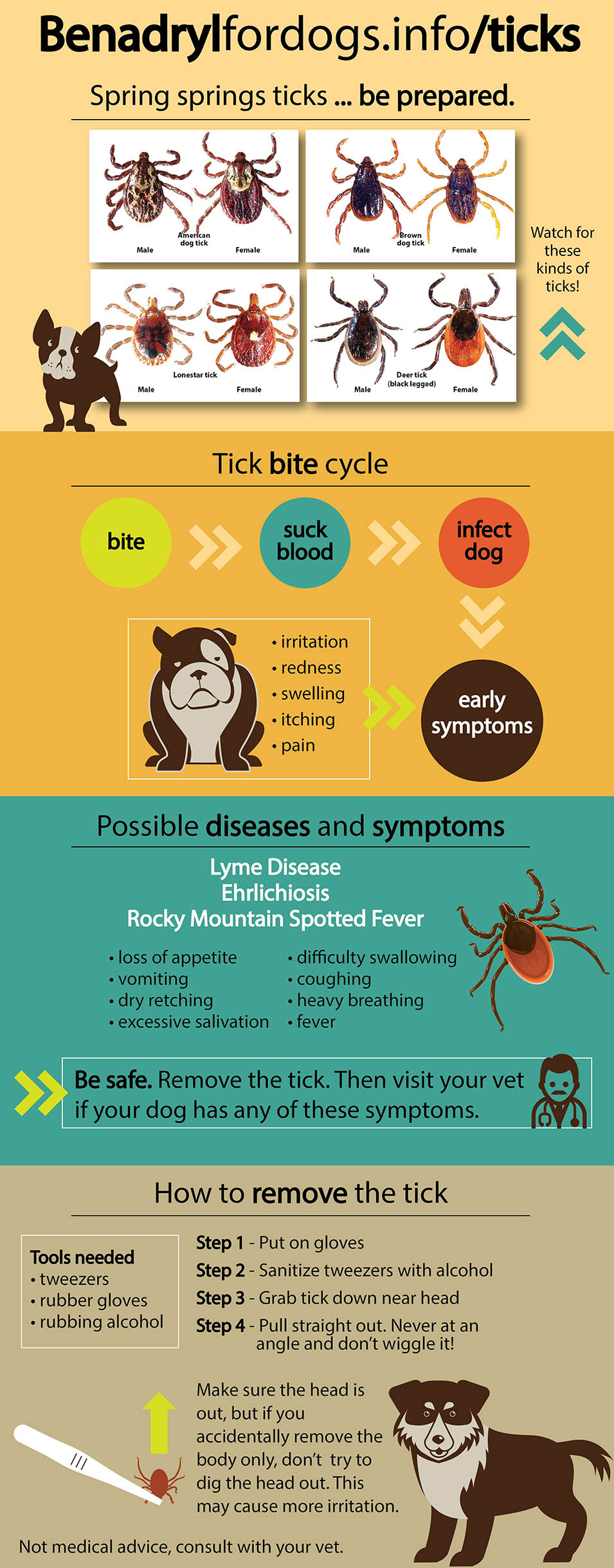 Complete Dog Tick Removal Guide http://benadrylfordogs.info/ticks
